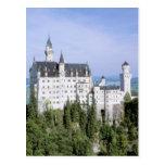 Europe, Germany, Neuschwanstein Castle, built Postcard
