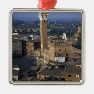 Europe, Italy, Siena. Town overview Silver-Colored Square Decoration