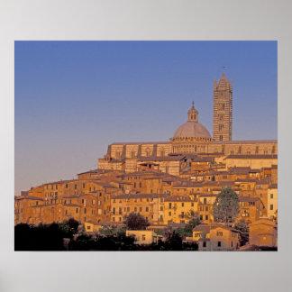 Europe, Italy, Tuscany, Siena. 13th century 3 Poster