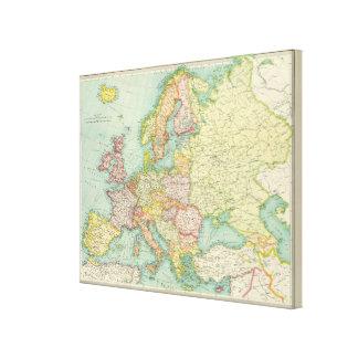 Europe political Map Canvas Prints