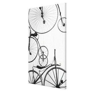 Europe, Switzerland, Lucerne. Bicycle display, Stretched Canvas Print