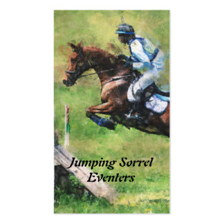 Eventer cross country jumping pack of standard business cards