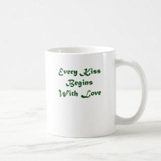 Every Kiss Begins With Love Basic White Mug