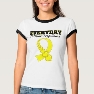 Everyday I Miss My Cousin Military Tshirt