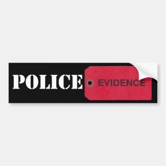 Evidence Tag Bumper Sticker