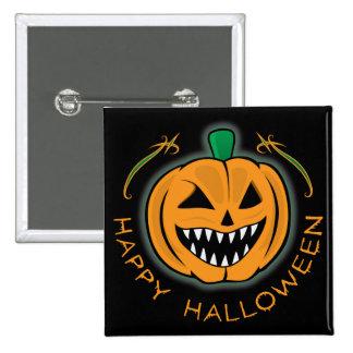 Evil Pumpkin 15 Cm Square Badge