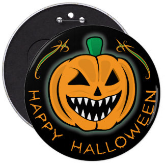 Evil Pumpkin 6 Cm Round Badge