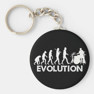 Evolution of a Drummer Basic Round Button Key Ring