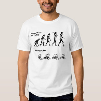 Evolution of Man & Woman Tee Shirt