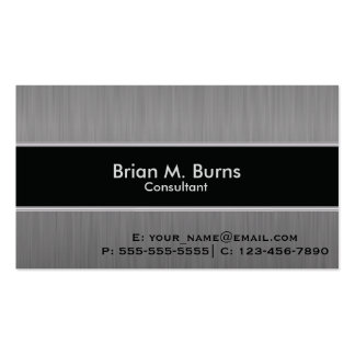 Executive Black Brush Steel Pack Of Standard Business Cards