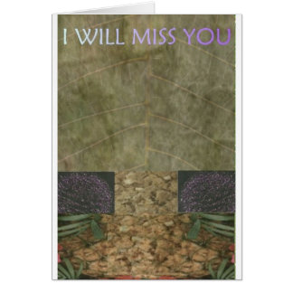 EXOBIA GREETINGS: I WILL MISS YOU GREETING CARD