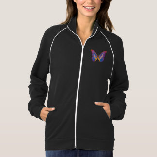 Exotic Butterfly Watercolor Pocket Track Jacket