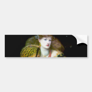 Exotic extravagant woman painting bumper sticker