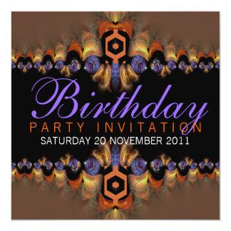 Exotic Oriental Flavour Party Birthday Invitation