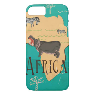 Experience Africa Vintage Travel Poster iPhone 7 Case