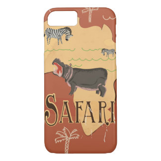 Experience African Safari Vintage Travel Poster iPhone 7 Case