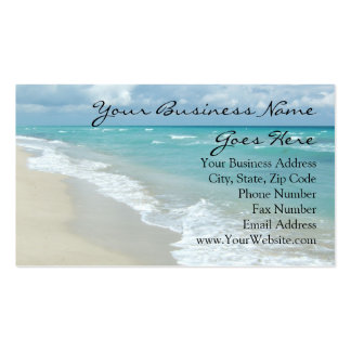 Extreme Relaxation Beach Elegant Spa Travel Pack Of Standard Business Cards