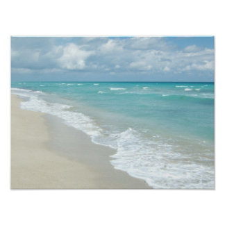 Extreme Relaxation Beach View White Sand Poster