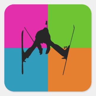extreme sports - ski square sticker