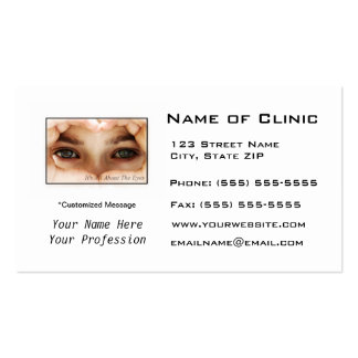 Eye Exam Appointment Reminder Heart Shaped Hands Pack Of Standard Business Cards