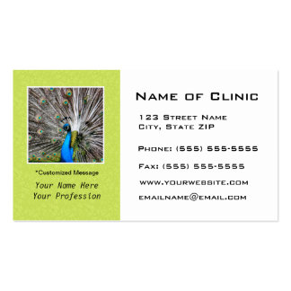Eye Exam Appointment Reminder - Peacock Eyes Pack Of Standard Business Cards