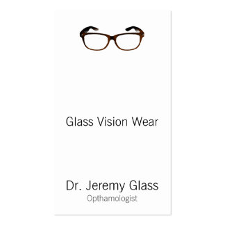 Eyewear Glasses Pack Of Standard Business Cards