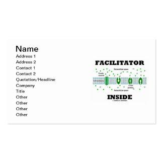 Facilitator Inside (Cell Biology Humor) Pack Of Standard Business Cards