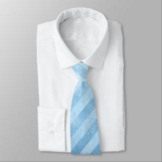 Faded Blue Grunge Stripes Tie