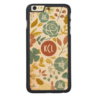 Fall Color Leafs And Flowers Carved® Maple iPhone 6 Plus Case