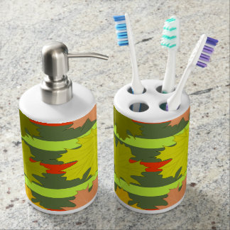 Falling leaves in autumn soap dispensers