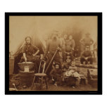Family and Soldiers near Washington, DC 1862 Poster