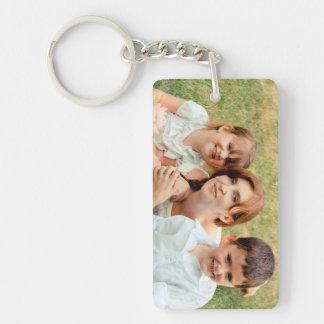 Family Photo Keepsake Single-Sided Rectangular Acrylic Key Ring