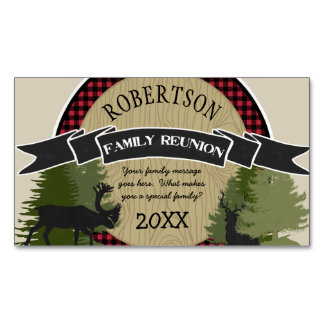 Family Reunion Personalized Magnets Woodland Deer Magnetic Business Cards