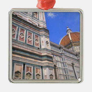 Famous Doumo Church close-up in Florence, Italy Silver-Colored Square Decoration