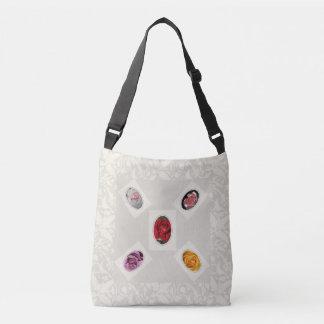 Fancy Five Roses Cross Body Bag Tote Bag