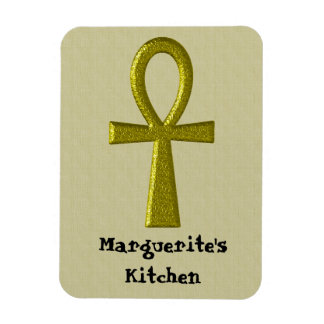 Fancy Gold Ankh Flex Megnet Rectangular Photo Magnet