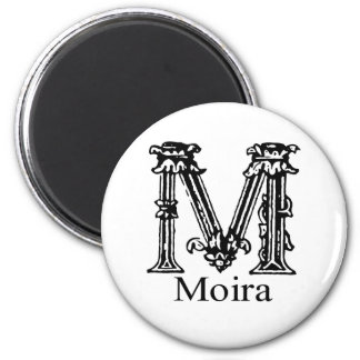 Fancy Monogram: Moira 6 Cm Round Magnet
