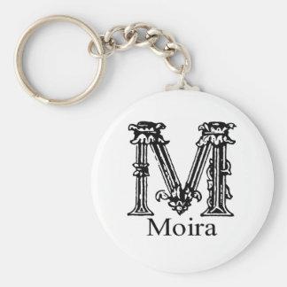 Fancy Monogram: Moira Basic Round Button Key Ring