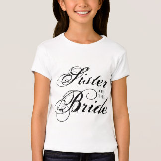 Fancy Sister of the Bride Black T-shirts