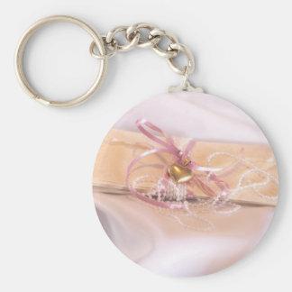 Fancy Wedding Invitation Basic Round Button Key Ring