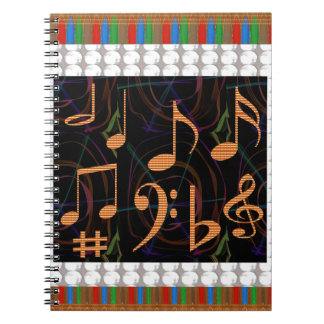 Fans Students of Music Symbol Art Display gifts 99 Notebook