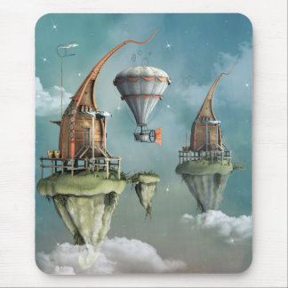 Fantasy sky abode mouse pad
