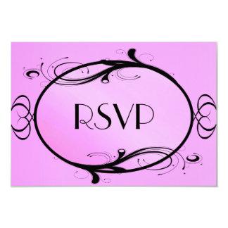 Fantasy Wedding Pink Menu Choice 9 Cm X 13 Cm Invitation Card