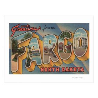 Fargo, North Dakota - Large Letter Scenes Postcard