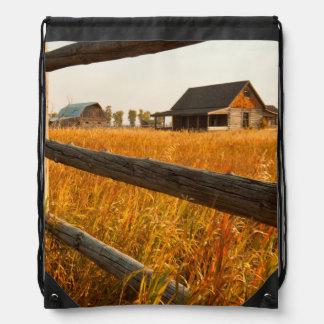 Farm House And Rail Fence In Grand Teton Rucksacks