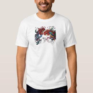 Farmyard Roosters Tee Shirts