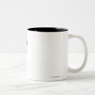 Faroe Islands Waving Flag Two-Tone Mug