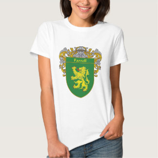 Farrell Coat of Arms (Mantled) Tee Shirt