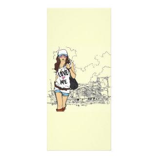 Fashion Girl Vector Illustration Personalised Rack Card