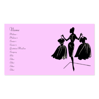 Fashion Silhouette Pack Of Standard Business Cards